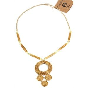 New Art da Terra Hand-Crafted Four Circle Necklace